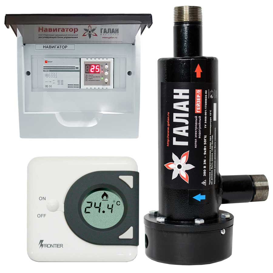 Гейзер 9 / Базовый - Электрический электродный отопительный котел